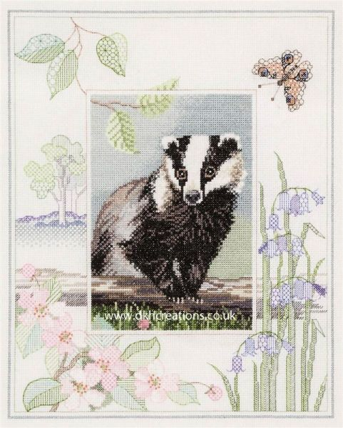Badger Cross Stitch Kit